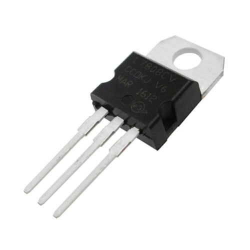 10 pcs Positive 8 Volt Voltage Regulator 1.5 amp TO220  L7808 LM7808 7808