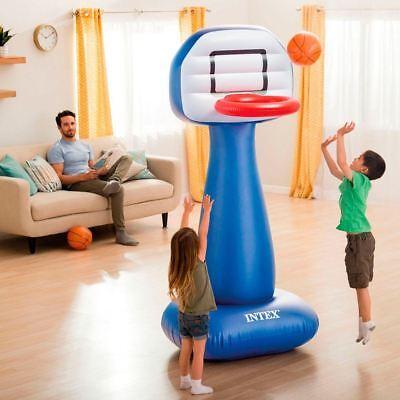 "82"" Intex Inflatable Basketball Hoop Stand Set Kids Indoor Garden Party Play Toy"