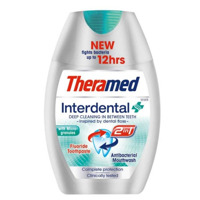 THERAMED INTERDENTAL 2 IN 1 TOOTHPASTE - 75ML