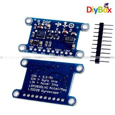 9 Axis Imu L3gd20 Lsm303d Module 9dof Compass Acceleration Gyroscope For Arduino