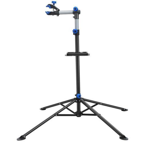 360° Swivel Adjustable Folding Bike Repair Stand Mechanic Rack w/ Telescopic Arm
