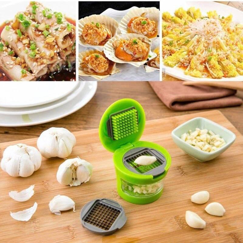 Cuisine d/'outils à main en plastique Garlic Press Presser Crusher Masher Slicer