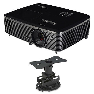 Optoma HD142X Full HD 1080p 3D DLP Home Theater Projector w/ Mustang Low Profile