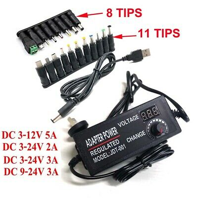 Voltage Adjustable Switch Power Supply Ac To Dc Adapter Convertor 3-123-24v