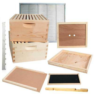 Double Deep Brood Box Beginners Beehive Kit 20 Each Pine Frames - Gl2stack