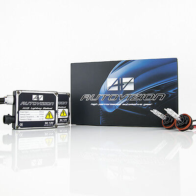 (Autovizion SS Series H11 H9 H8 6000K Diamond White HID Xenon Kit Fog Light 35W)