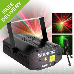 Beamz Bright Red Green Disco DJ Laser Sound To Light Halloween Party Lighting