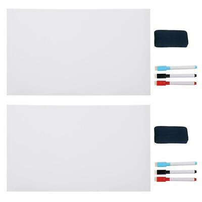 2 Set 15 X 11 Dry Erase Board Whiteboard Sticker Chalkboard Wall Refrigerator