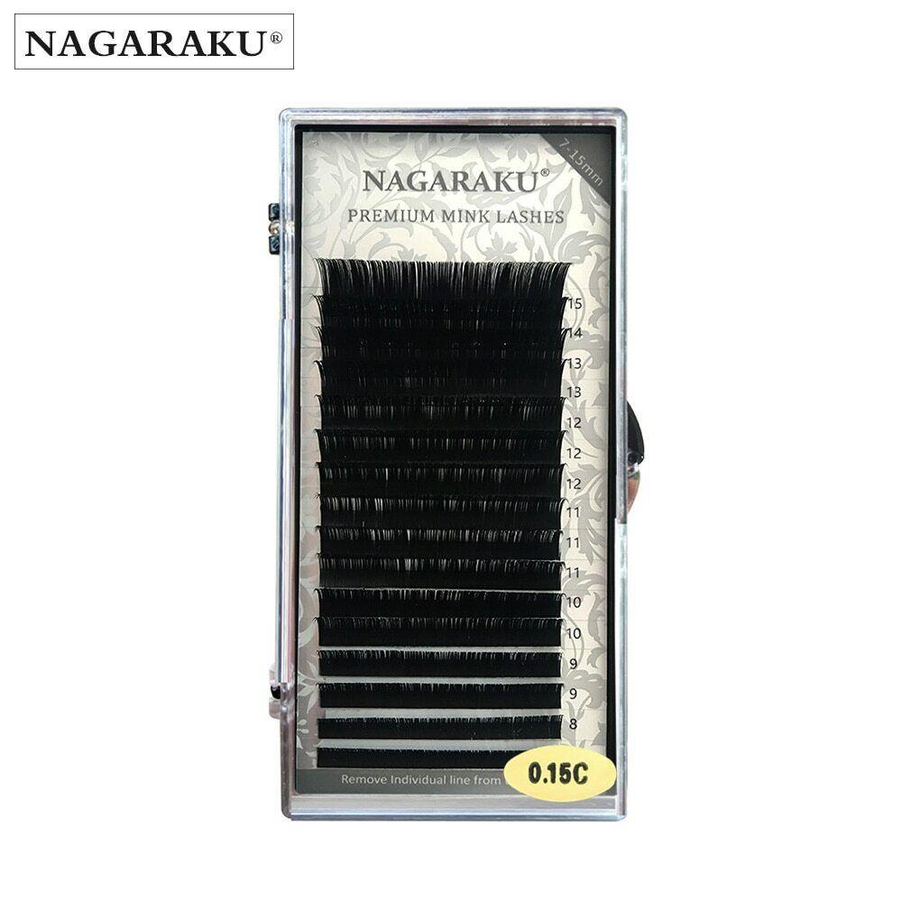 Nagaraku - Lashes Faux Mink Eyelash Individual Cilia Premium