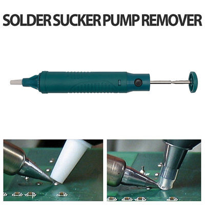 Desoldering Pump Solder Sucker Removal Iron Tool With Platic Body Teflon Tip