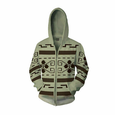 The Big Lebowski hoodie Zip Up Adult Coat Pullover Jacket Long Sleeve Costumes - Big Lebowski Costumes