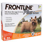 FRONTLINE 0 to 22 lbs. Dog Weight without Custom Bundle Dog Flea & Tick Remedies