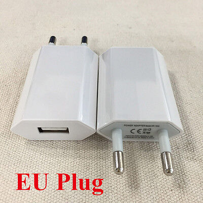 2x European USB AC Power Adapter EU Plug Face ruin Charger For iPhone Samsung iPod