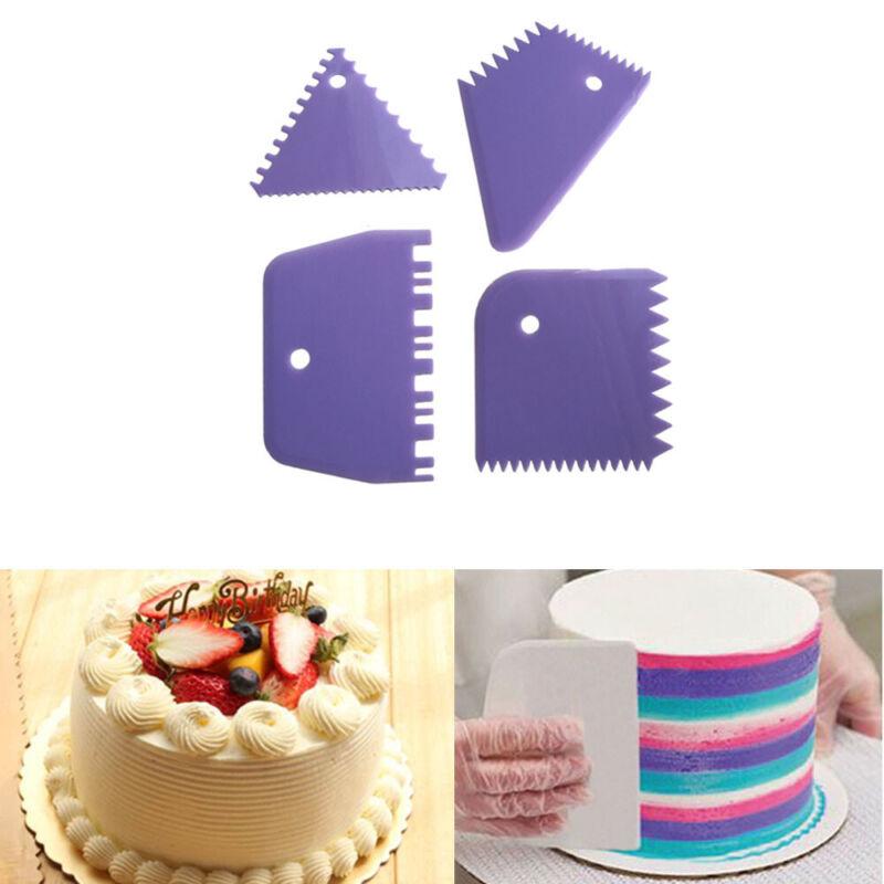 Smooth Sugarcraft Jagged Edge Cream Spatulas Baking Mold Cake Scraper Fondant