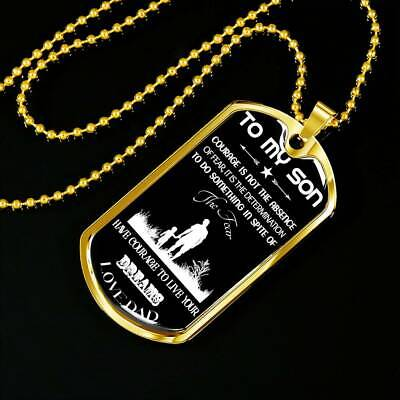 Dog Tag for Son Necklace Birthday Gift From Dad Father Best Gift for