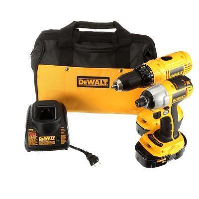 18-Volt Ni-Cad Yellow Cordless Combo Kit (2-Tool) Drill/Driver Compact