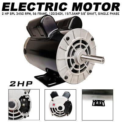 2hp Compressor Duty Electric Motor 7.515amp 3450 Rpm 56 Frame 58 Shaft Us