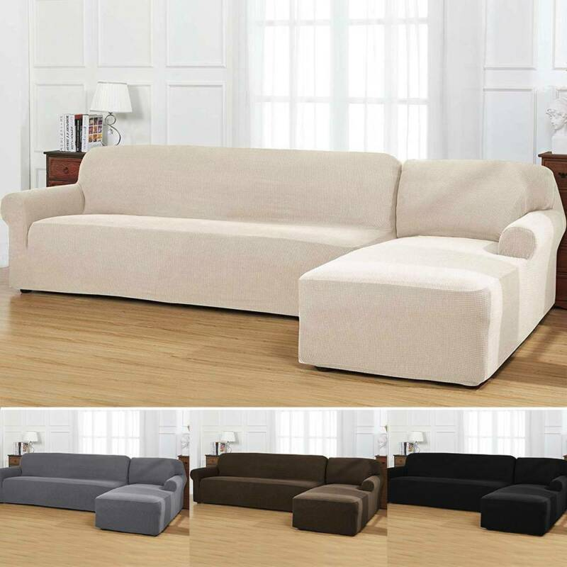 2pcs set l shaped sectional sofa cover