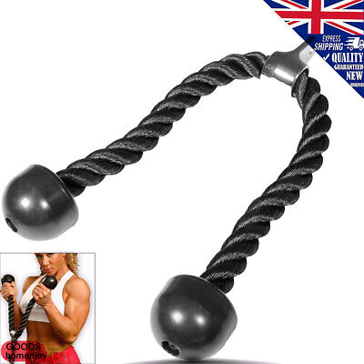 Tricep Rope Multi Gym Push Up Pull Down Cord Bodybuilding Attachment Cable