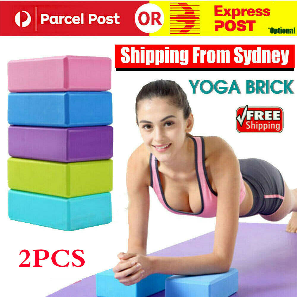 2PCS Yoga Block Brick Foaming Home Exercise Practice Fitness Gym Sport Tool