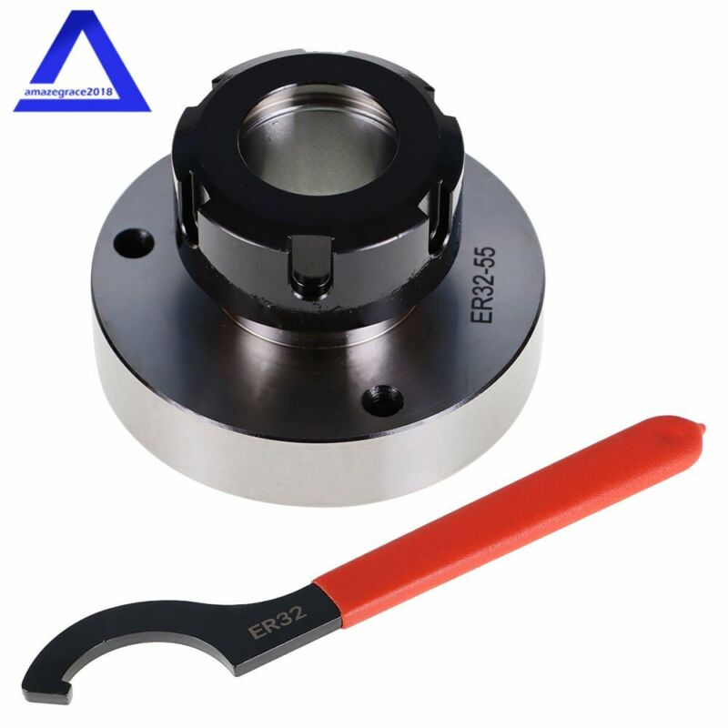 ER-32 Collet Chuck 80mm Diameter Bearing Steel Compact For Milling Lathe