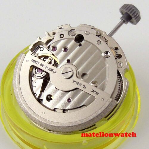Japan Miyota 821A automatic movement parts date display High Accuracy 21 jewels