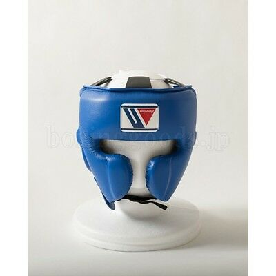 New Winning Boxing Head Gear Face Guard Type FG-2900 Size L Blue FreeShipping