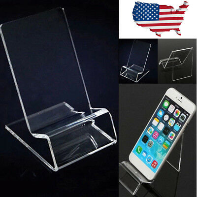 - 20Pcs General Clear Acrylic Mount Holder Display Stand For Mobile Cell Phone Lot