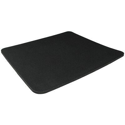 Black Fabric Mouse Mat Pad High Quality 5mm Thick Non Slip Foam 25cm x 22cm