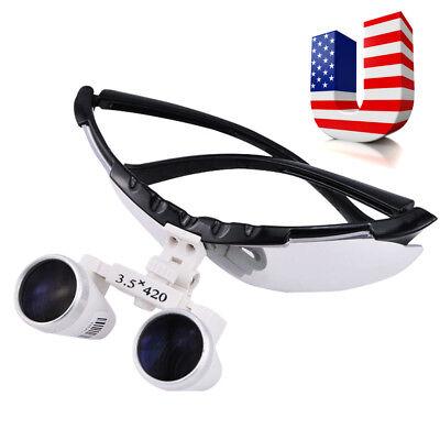 Usa Black Dental Surgical Binocular Magnifier Loupes Glasses 3.5x 420mm Optical