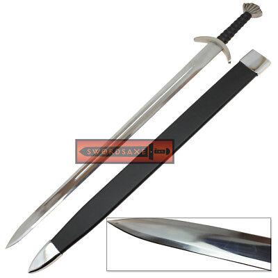 Authentic Battle Ready Viking Long Sword Type XXII Oakshott w Leather Scabbard