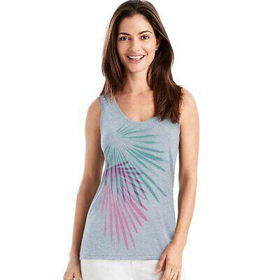 Hanes Women's Graphic V-Neck Scoop Voop Tank Top Sleeveless