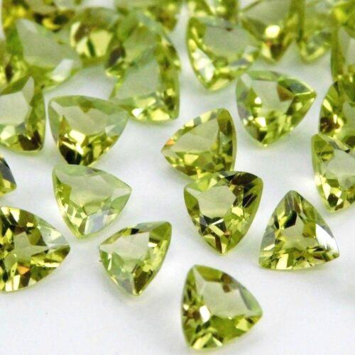 Wholesale Lot 7mm Trillion Facet Cut Natural Peridot Loose Calibrated Gemstone