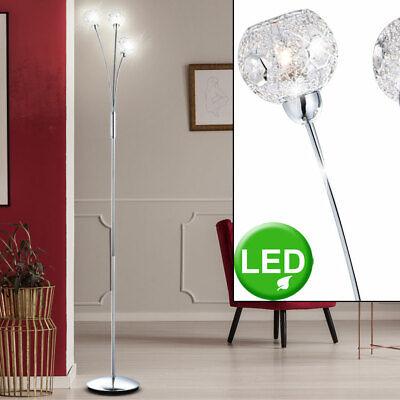 LED Lámpara de Pie Salón Habitación Estar Techo Bola Cristal Reflector