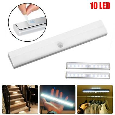 10 LED Motion Sensor Closet Light Wireless Night Cabinet Battery Powered Indoor Art Nouveau Bedroom
