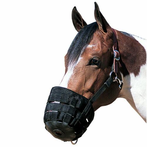NEW WEAVER Black 65-2345 Average Horse Equestrian Grazing Muzzle W/ Crown Medium