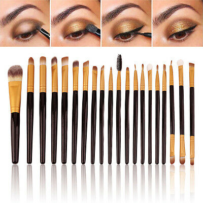 20Pcs Pro Eyeliner Brushes Set Eyeshadow Blending Pencil Brush Make Up Tools Kit