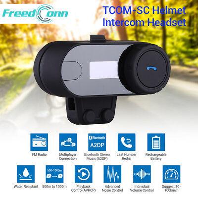 2.4GHz TCOM-SC Bluetooth Motorrad Helm 800M Intercom Headset mit Bildschirm C1