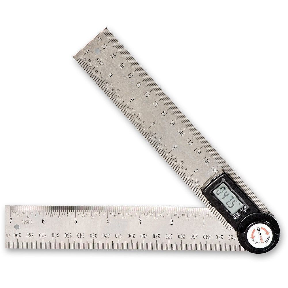 Digitaler LCD Winkelmesser Gradmesser 360° Winkel Messen Edelstahl 200//300mm XS