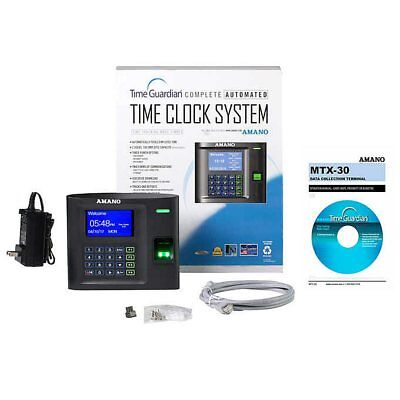 Amano Wi-fi Biometric Time Clock Bundle