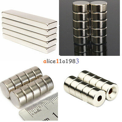 5/10PCS Super Round Strong Fridge Magnets Rare-Earth Neodymium Magnet N50 N52