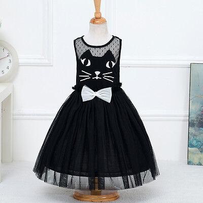 Kid Girl Toddler Baby Kitty Cat Birthday Party Fancy Costume Tulle Tutu Dress