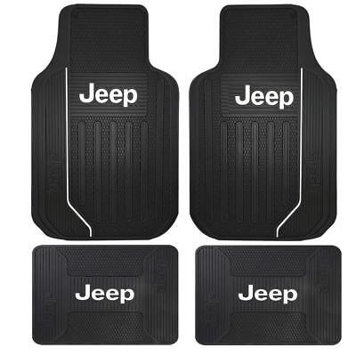 Brand New Jeep Elite Logo All Weather Heavy Duty Rubber Front Back Floor Mats