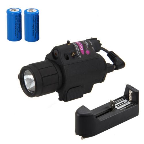 Combo LED Flashlight GREEN/RED Laser Sight & 20mm Picatinny Rail Mount 16340