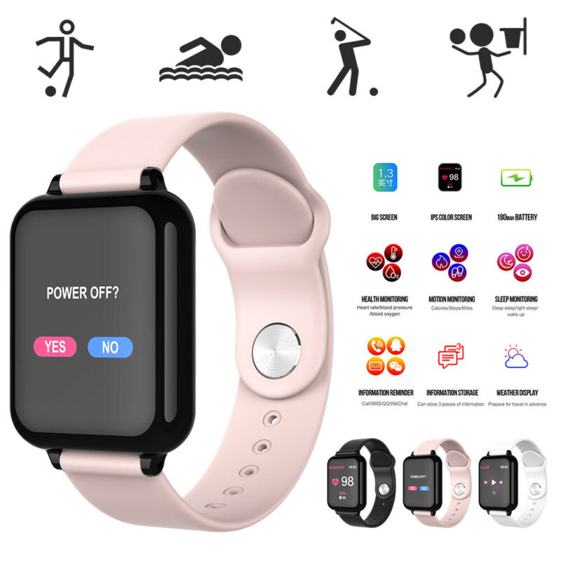 waterproof smart watch heart rate bracelet women