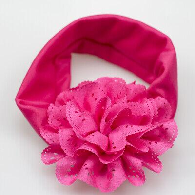 Newborn Lovely Large Ruffer Flower Elastic Hairband Headband For Reborn Doll (Ts Love Doll)