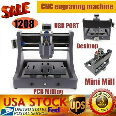 Usausb 1208 Mini Cnc Router Pcb Wood Milling Cutting Machine Engraver Carver