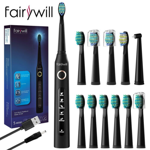 Fairywill Sonic Electric Toothbrush with 7 Replacement Heads