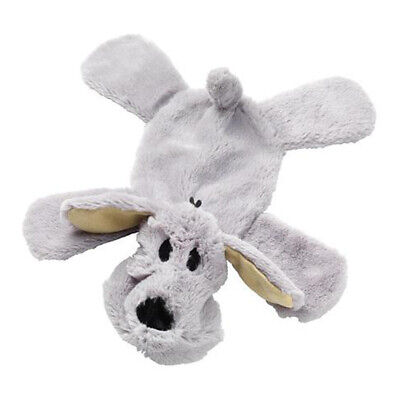 House of Paws Crinkle Noisy Paws Dog Squeaky Dog Toy | Unstuffed Luxury Grey Pet