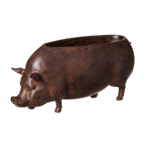 Pig Resin Statue Planter Bowl